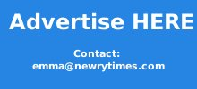 Advertise here... contact emma@newrytimes.com