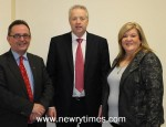 Karen McKevitt and Dominic Bradley with Ulster Council President Martin McAviney