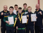 The Ulster Champions with Coaches Barry 'The Tank' Tucker and Adrian Patterson