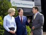 From left: Margaret Hearty, InterTradeIreland Director of Programmes and Business Services; Minister Seán Sherlock TD and Aidan Gough, InterTradeIreland Director of Strategy and Policy. Photograph: Columba O'Hare