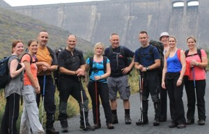 Pictured are representatives from the Ministry of Defence (MOD), Policing and Community Safety Partnership, NI Fire and Rescue Service, PSNI and Newry, Mourne and Down District Council who in the initial planning stages trekked the route for the Mourne Mountain Adventure Challenge which takes place this Saturday 25 April 2015