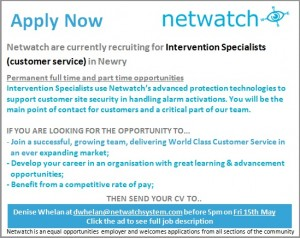 Netwatch May advert