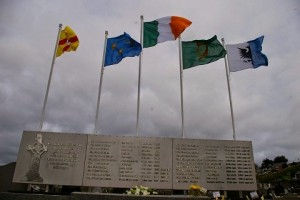 The five flags were taken from the Newry Republican plot