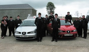 KS4 pupils from the LSC with driving instructors