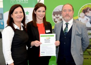 Pictured at the launch of the Housing Executive's Rural Awards 2015 were Housing Executive's Siobhan McCauley, Director of Regional Services and Sinead Collins, Rural Co-ordinator, with Raymond Craig Chair of the Rural Community Network