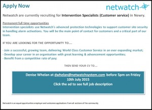 Netwatch June advert