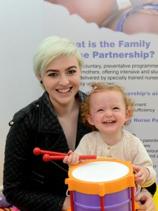 Lauren Warde from Newry who took part in the Family Nurse Partnership Programme with her daughter Skie Loughran.