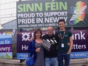 Jennifer with Sinn Féin Republican Youth member Mark McLoughlin