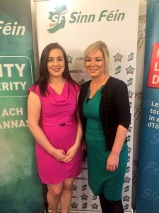 Megan Fearon MLA with DARD Minister Michelle O'Neill