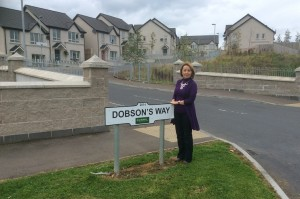 Cllr Mulgrew at Dobson's Way