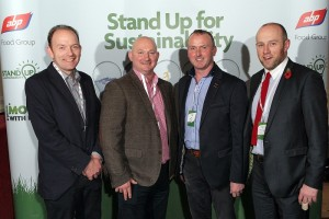 "Pictured at the ABP ""Stand up for Sustainability"" event in were Roger Sheahan, Jimmy Treanor, Joe Magee and Philip Simpson from ABP Newry"
