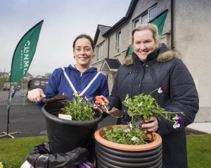 Aisling McConville and Tracey Quinn who recently took part in a gardening taster session at Dobson's Way