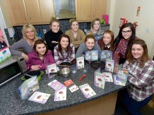 (Left - Right)  Back row: Imelda Fearon, Senior Social Work Practitioner; Aveen Rafferty, Social Work Student; Naomi Connelly and Shannon Henderson. Front row: Lauren Cartmill; Sara Park; Shannon Miller; Zoey Flynn; Aideen Boyle and Sarah Girvan, Social Work Students.