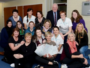 Newly accredited Southern Trust Chi Me Trainers with Karen Casey from LifeDock, Kieran Donaghy, Deputy Chief Executive and Lynne Smart, Acting head of Health & Improvement for the Southern Trust