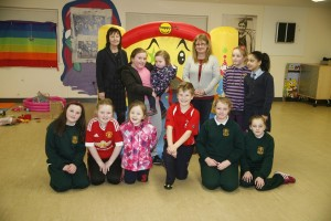 After school club Eileen Grant and Michelle Hazlett with some of the children who enjoy the after schools club at Derrybeg