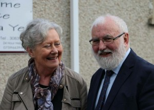 Frank pictured with his wife Aileen