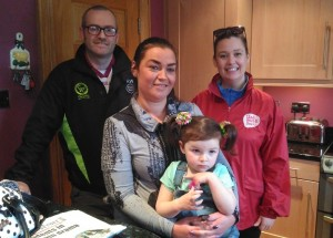 Patricia White's son Ruari White, Daughter Ciara Macsween, granddaughter Robin and Cheryl Brown from NICHS
