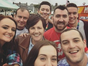 Caitríona Ruane, Megan Fearon, Michael Gray Sloan with friends at Newry Pride 2016
