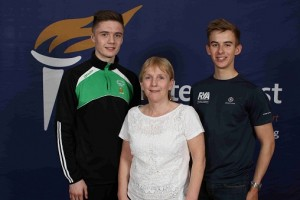 The Mary Peters Trust has once again provided funding in excess of £42,000 to 80 young athletes from across Northern Ireland, including two local athletes from Newry, in order to support and accelerate their sporting careers. In addition to financial support, the athletes, along with their parents, coaches and sports body representatives, were invited to attend the Trust's biannual Athlete Academy where they heard insights from industry experts on a range of topics. Pictured at the event with Eilish Rutherford, Chairman of the Mary Peters Trust, are Newry athletes Kane Tucker and Conor Quinn