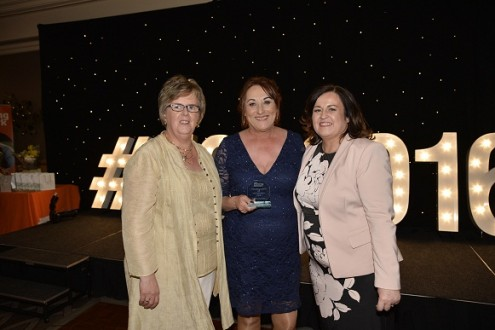 (L-R) Kathleen Toner, Director of The Fostering Network in Northern Ireland; Pauline Hanratty; and Una Carragher, Manager for the Regional Adoption and Fostering Service