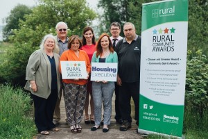 Launching the 2016 Housing Executive Rural Community Awards (l-r) Mary Watson (Camlough Community Association), Mike Jones (Castlerock Community Association), Eileen McGovern (Tirgan Community Association), Sinead Collins (Housing Executive), Orla McCann (Supporting Communities), Eoin McKinney (Housing Executive) and Clifford Wylie (Huntly Community Estates)