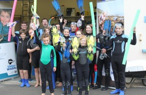 cranfields Kids getting ready for a Snorkel Safari