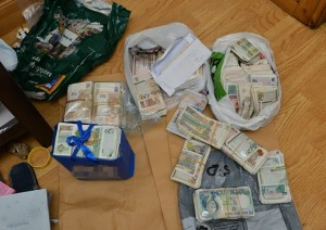psni Carriers bags of cash