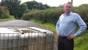 Larkin pictured at a previous diesel dumping incident in South Armagh
