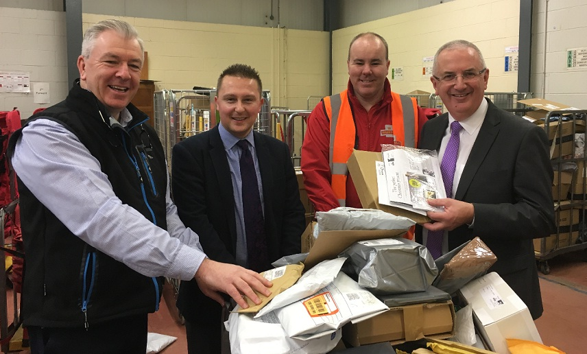 Newry royal mail staff hailed for first class service latest local mla danny kennedy and armagh councillor david taylor have visited royal mails newry delivery office to see first hand the operation of delivering m4hsunfo