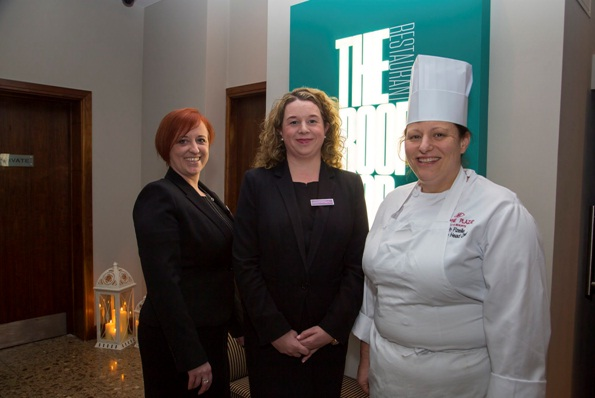 Unveiling their stunning new restaurant recently at The Crowne Plaza Hotel Dundalk are Niamh Murphy: General Manager, Siobhán McTigue, Director of Sales & Marketing and Sarah Fizelle: Executive Head Chef