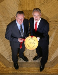 Pictured at the launch of Enterprise NI's Enterprise Champions are Gordon Gough, Chief Executive of Enterprise NI and Conor Murphy MLA