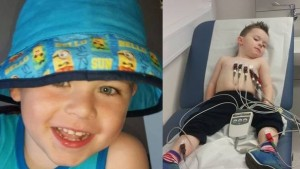 Four-year-old Alfie was diagnosed