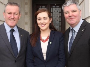Conor Murphy, Megan Fearon and Cathal Boylan
