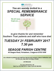 Remembrance service feb 2017