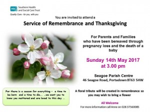 Rememberance CAH Baby Bereavement Service invite-poster in Powerpoint Option 4