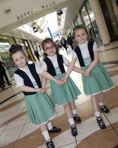 Clara King, Ellie Lavery and Niamh McShane.