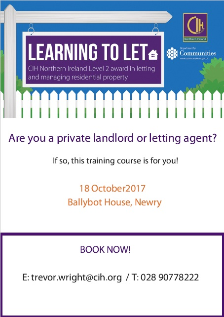 CIH Letting Advert