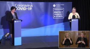 New NI restrictions: Arlene Foster and Michelle O'Neill - COVID-19 Coronavirus - Newry online -NI news