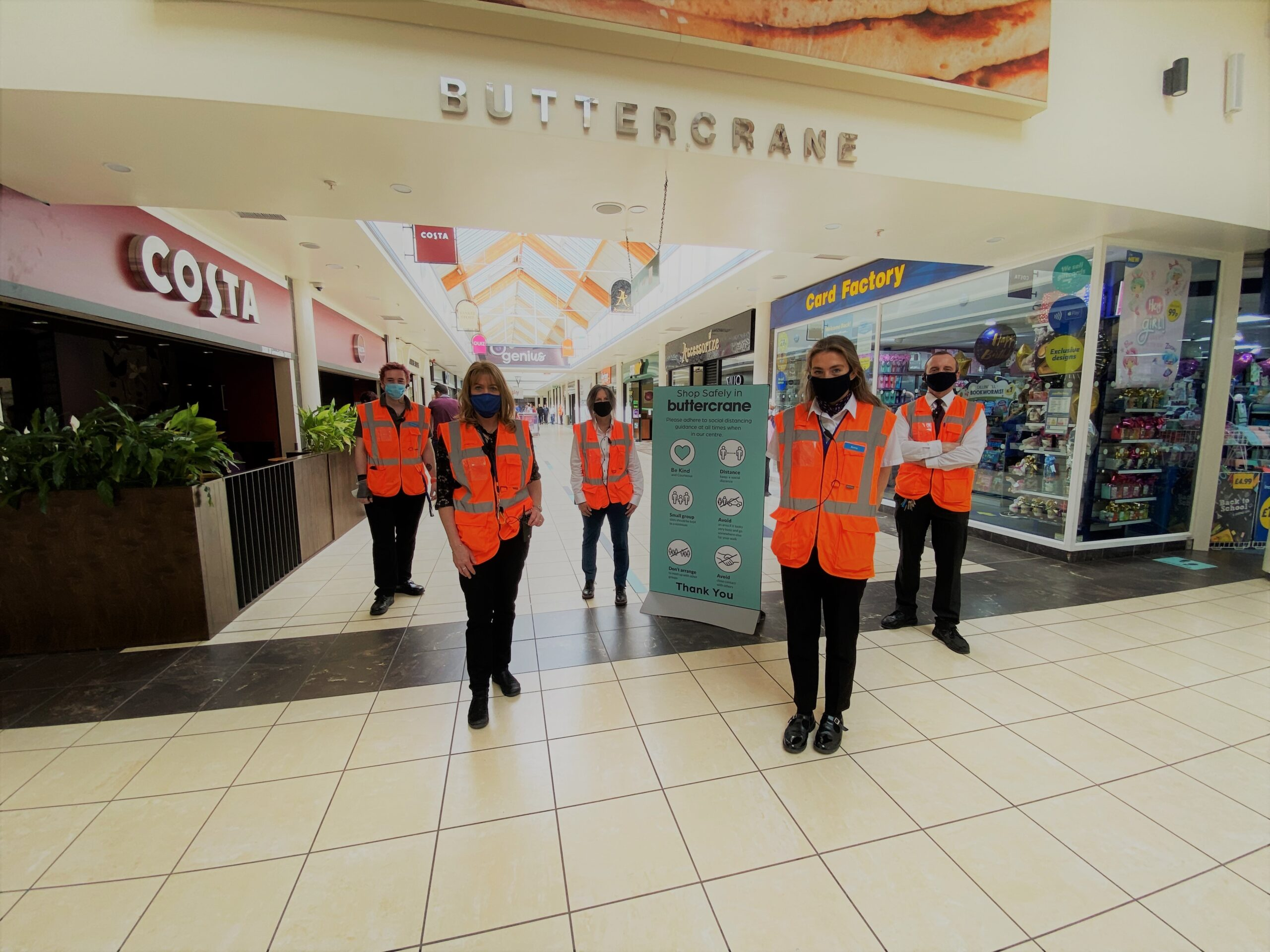 Buttercrane Shopping Centre Newry, face coverings - Newry business news