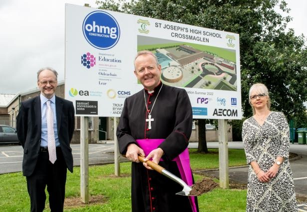 St Joseph's High School Crossmaglen sod cutting 2020 - Newspaper in Newry