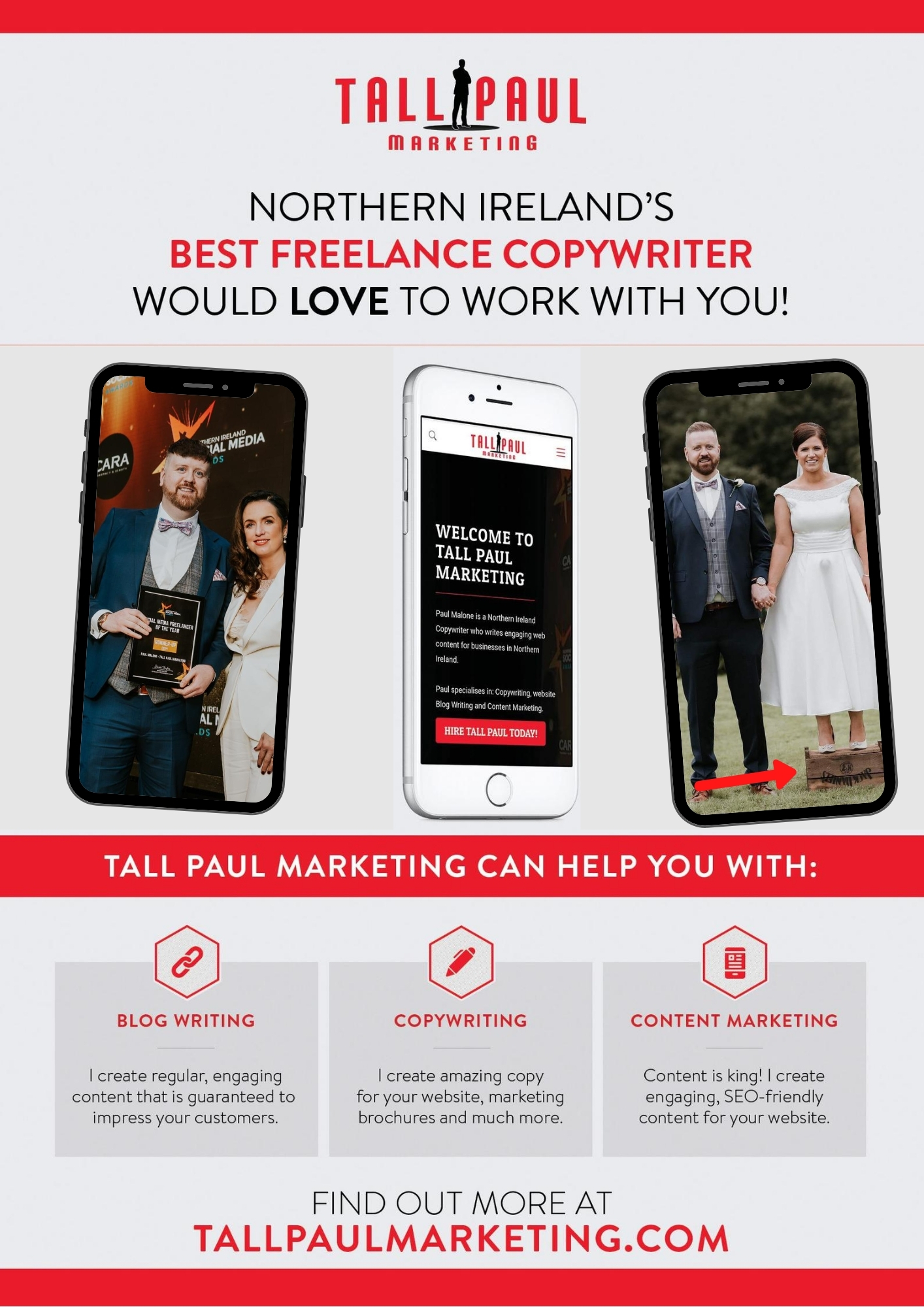 Tall Paul Marketing, Freelance Northern Ireland Copywriter, Blog Writer, Content Writer, Blog Writer, <span style=