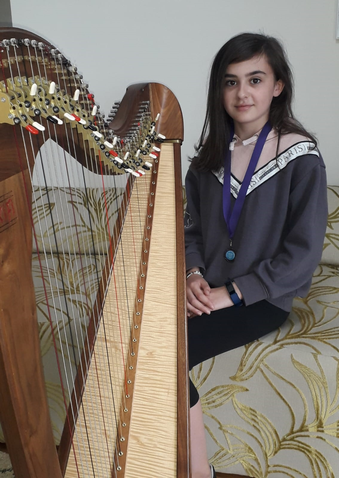 Amber Purdy Carroll School of Harp pupil - Newry news