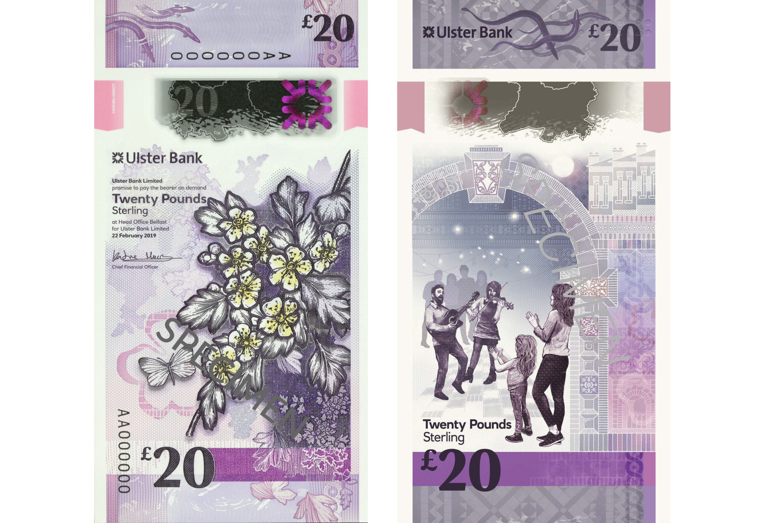"Ulster Bank introduces ""more sustainable £20 notes"" - Newry News - £20 bank notes northern ireland"