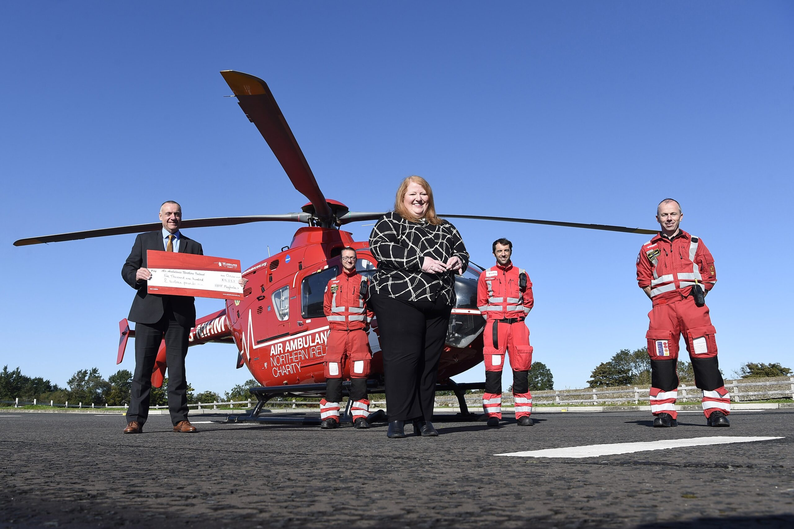 air ambulance-Naomi Long presents cheque - Newry Times