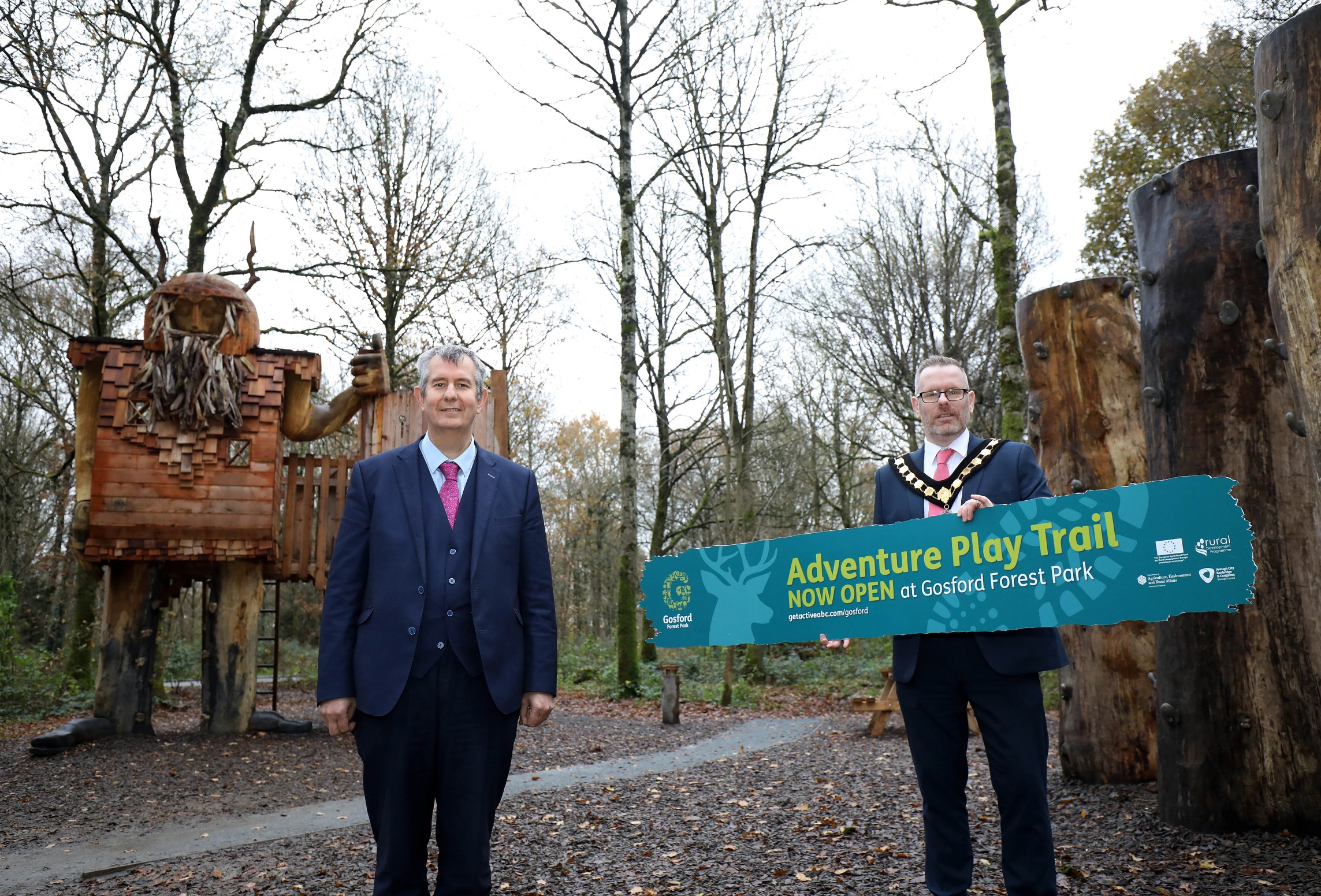 Gosford Forest Park - Poots opens £850,000 Adventure Play Trail in Gosford Forest Park - Newry headlines