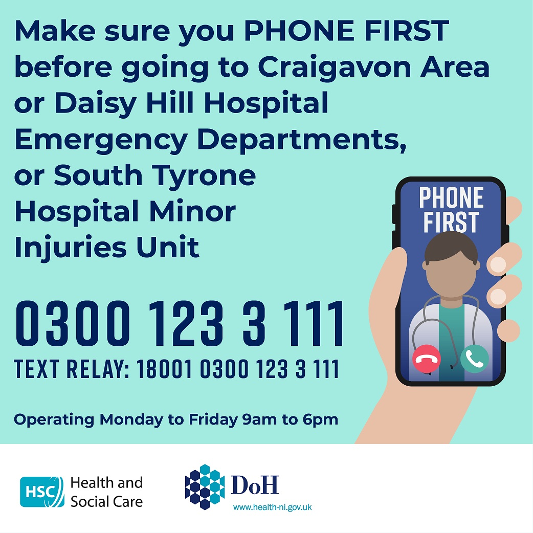 Southern area - Stay Well This Winter – your health and care services over Christmas and New Year - Daisy Hill Hospital Opening Hours - Newry news