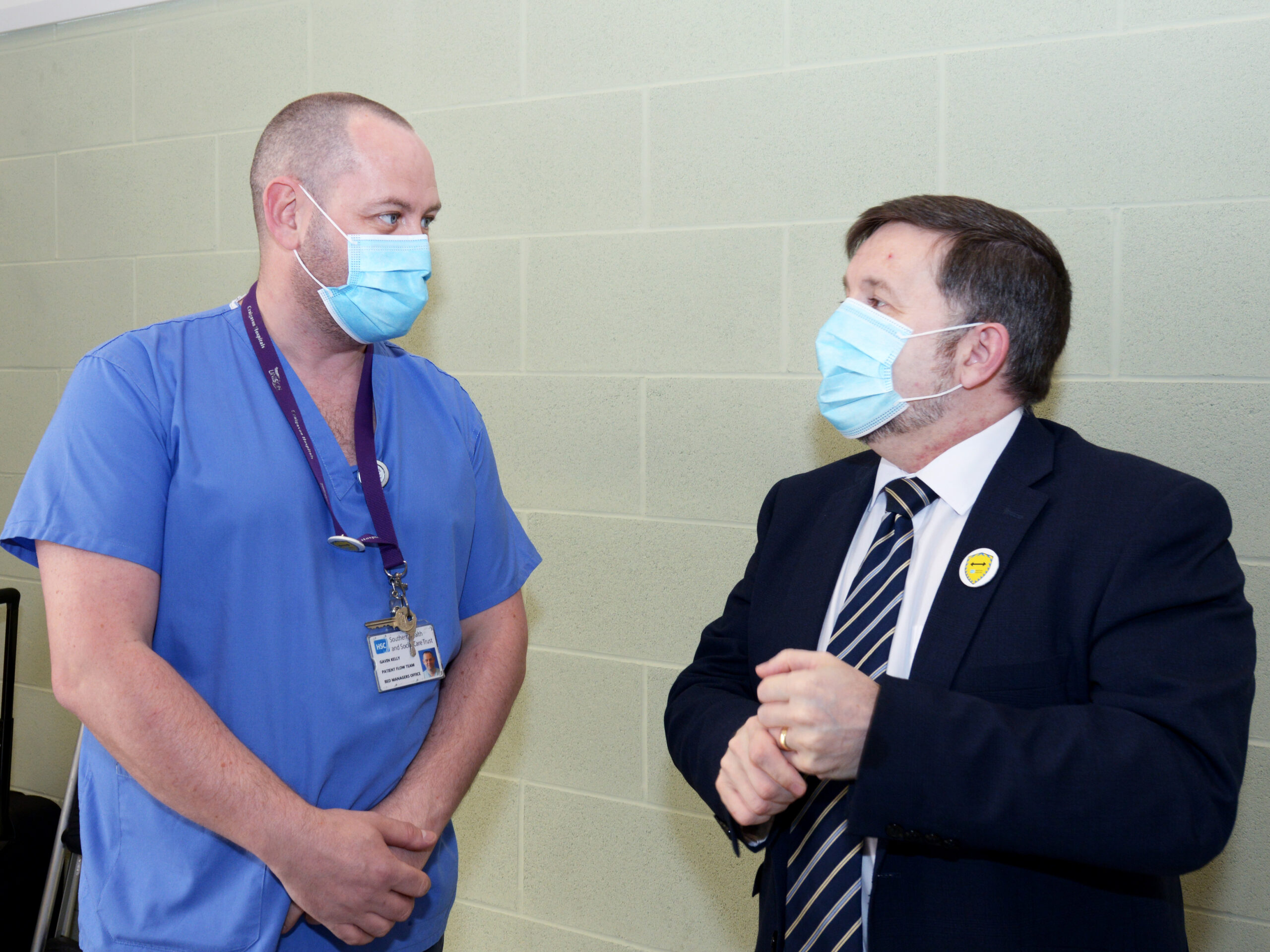 Mininster and vaccinator - Department publishes updated COVID-19 Response Strategy | Newry Times - Newry Covid19 Coronavirus news