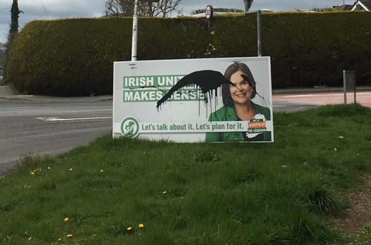 Attack on 'Uniting Ireland' Sign Viewed As A Sinister Act - Camlough Road - Newry newspaper
