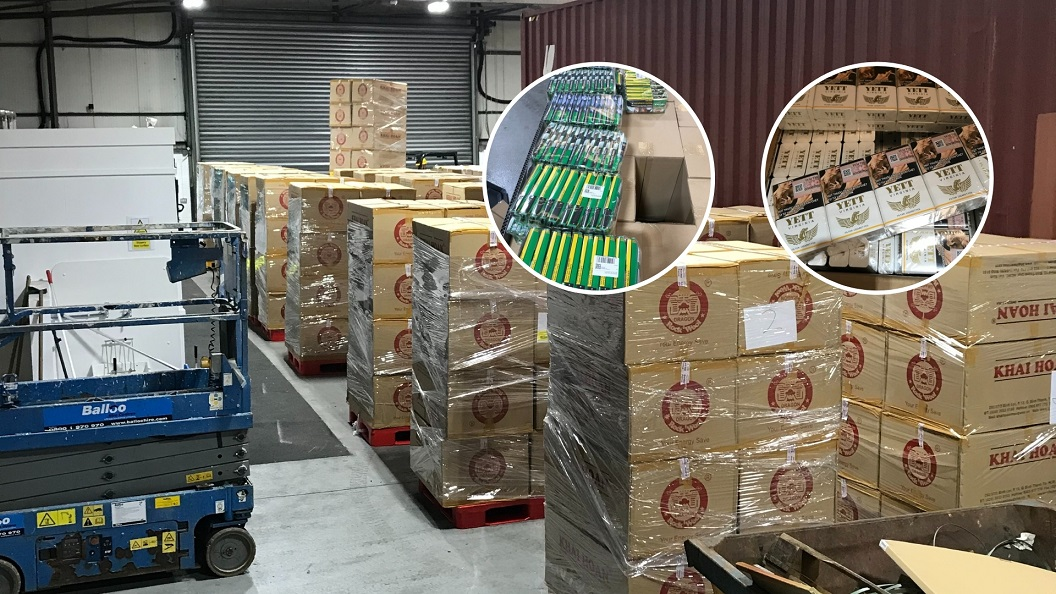 15 million cigarettes and 4 tonnes of tobacco seized in £7.2m smuggling operation - Newry Times - newry news now