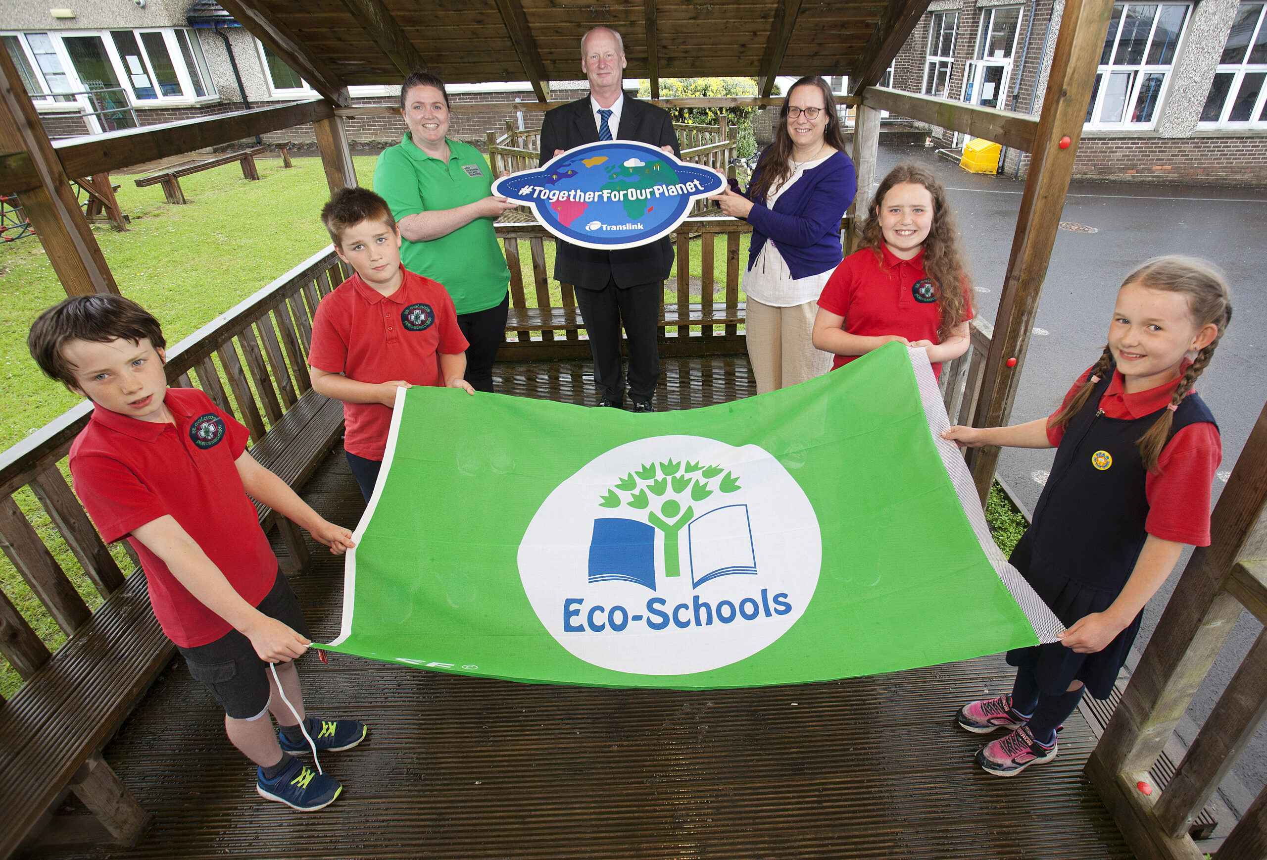 Local Pupils Wave the Flag for Eco-Schools Success Newry Times - newry news facebook